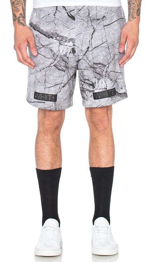 Marble Print Fleece Shorts