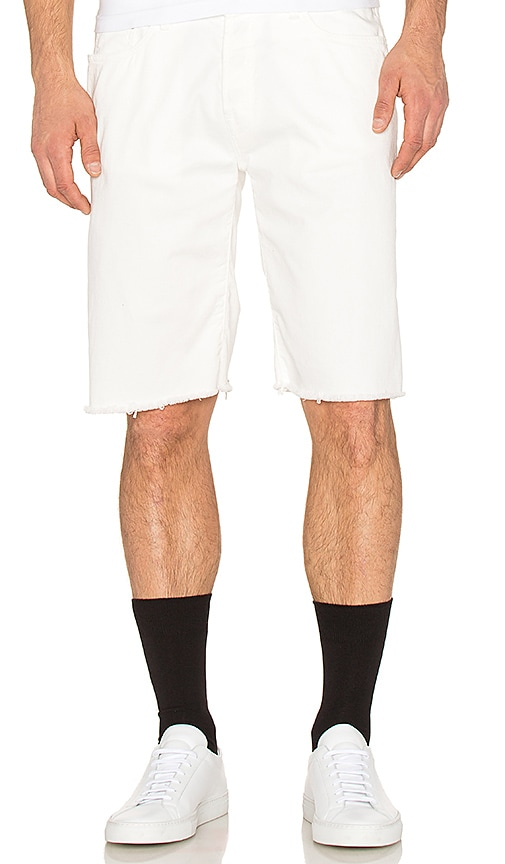 OFF-WHITE 5 Pocket Shorts in White Black