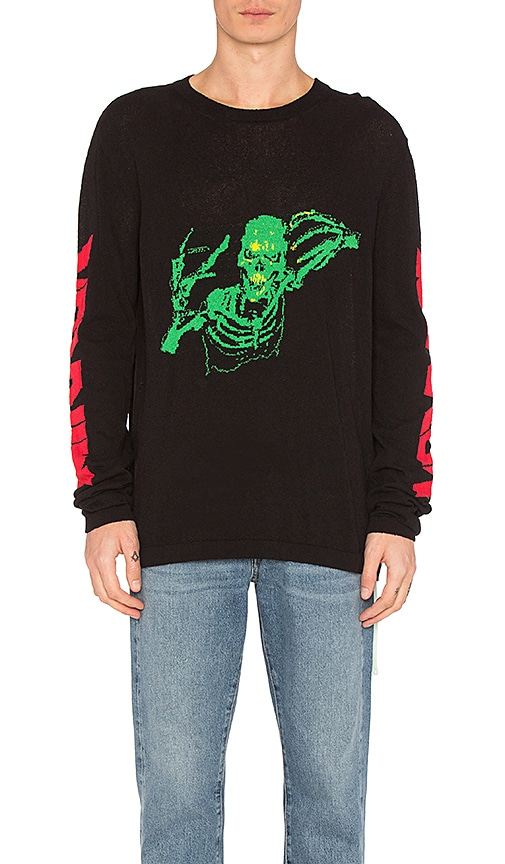 Skull Knit Rock Sweater