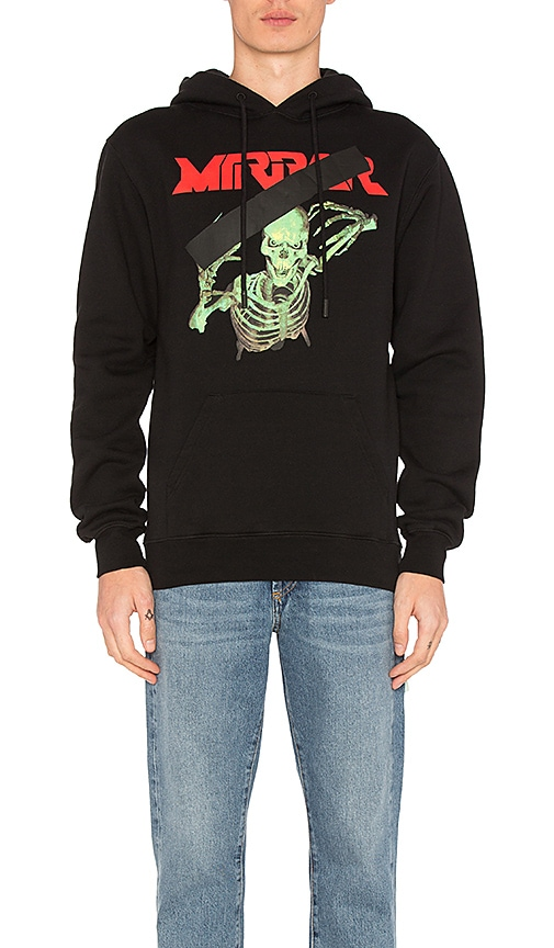 OFF-WHITE Mirror Skull Hoodie in Black