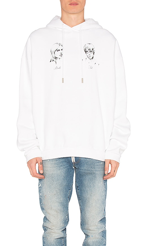 OFF-WHITE Till Death Hoodie in White