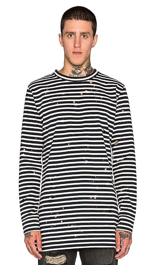 f28c5773a0 OFF-WHITE Stripe Long Sleeve Tee in Dark Blue Black | REVOLVE
