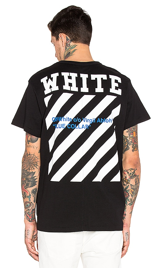 off white blue collar shirt