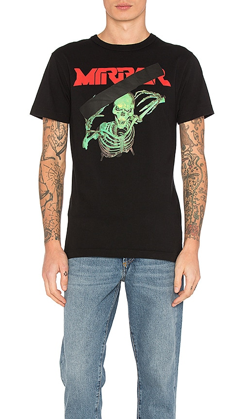 OFF-WHITE Skull Mirror Tee in Black