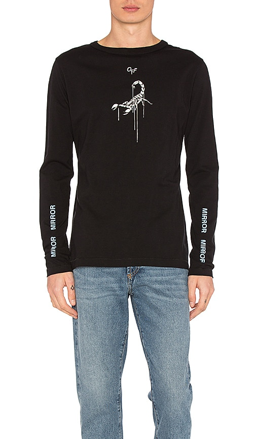 OFF-WHITE Othelo's Scorpian Tee in Black