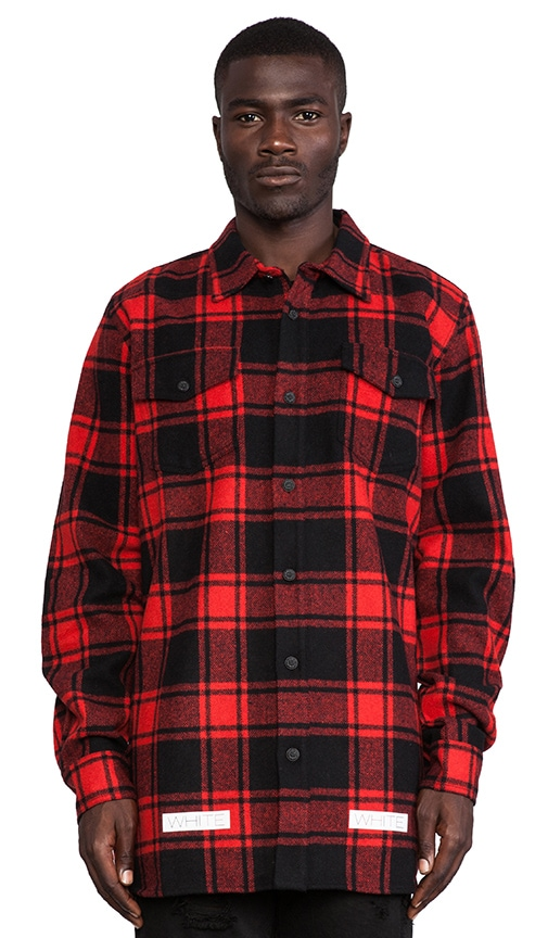 Button Down Wool-Blend Flannel