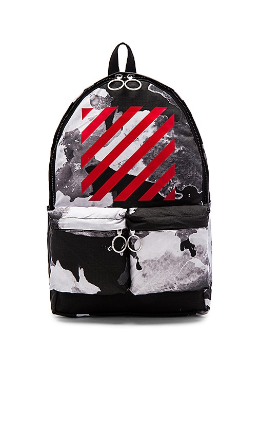 OFF-WHITE Liquid Spots Backpack in Black