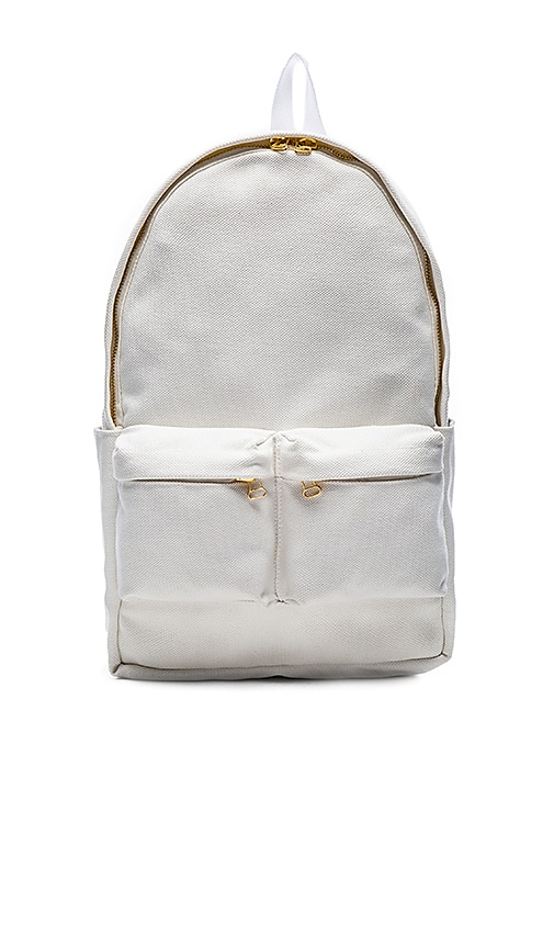 OFF-WHITE Canvas Backpack in Off White Black