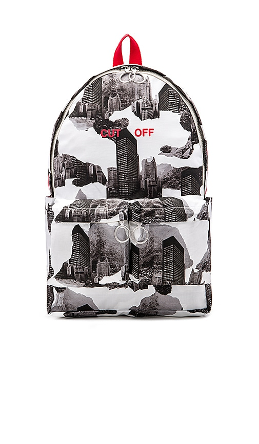 OFF-WHITE Architectural Camo Backpack in Black & White