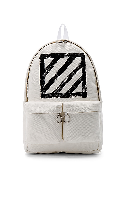 OFF-WHITE Brushed Diagonals Backpack in White