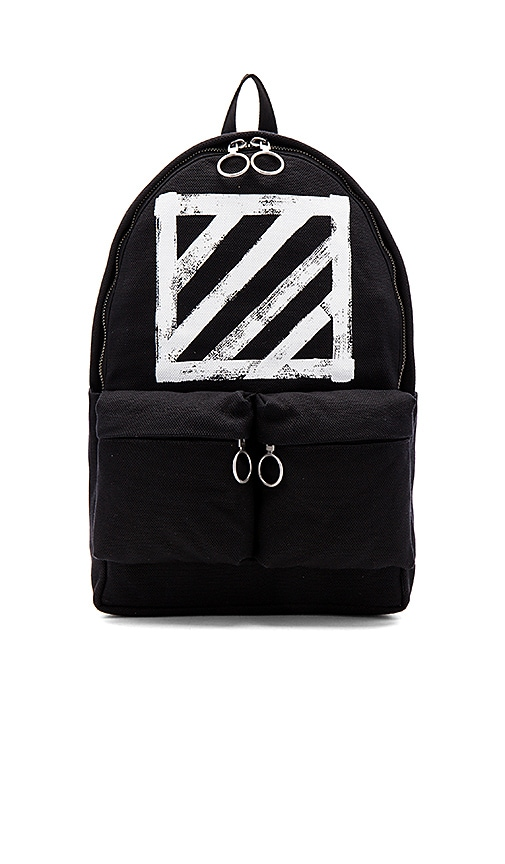 OFF-WHITE Brushed Diagonals Backpack in Black