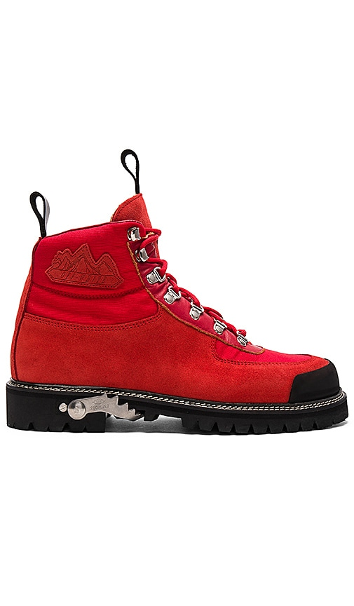 OFF-WHITE Cordura Hiking Boots in Red