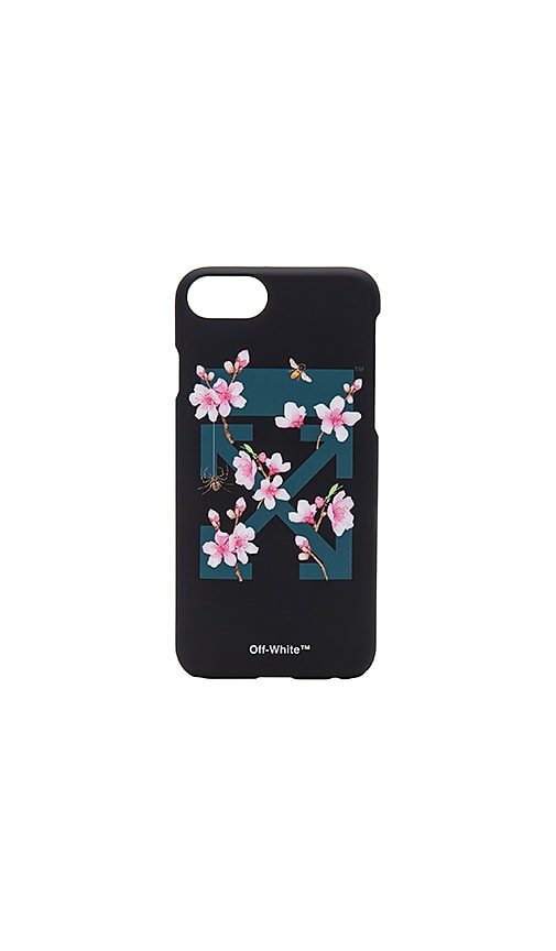 online store d00c4 21959 OFF-WHITE Cherry Flowers iPhone 7 Case in Black Multicolor | REVOLVE
