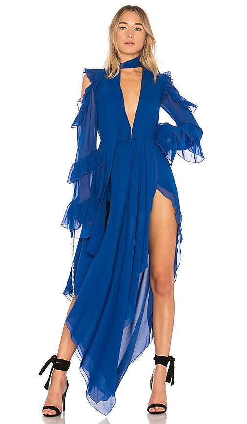 OFF-WHITE Belt Neck Dress in Royal