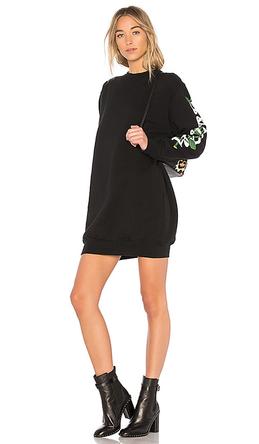 OFF-WHITE Othelo Flower Dress in Black