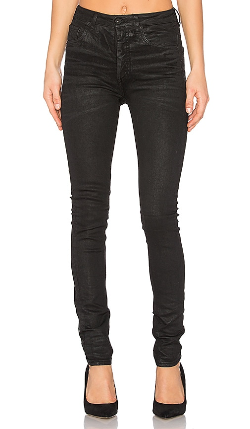 OFF-WHITE High Waisted 5 Pockets Jean in Black