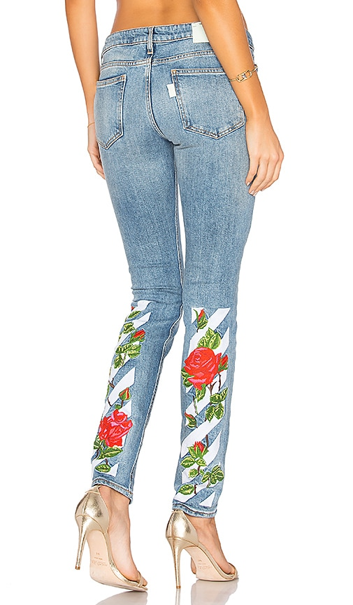Diag Roses 5 Pocket Skinny Jeans