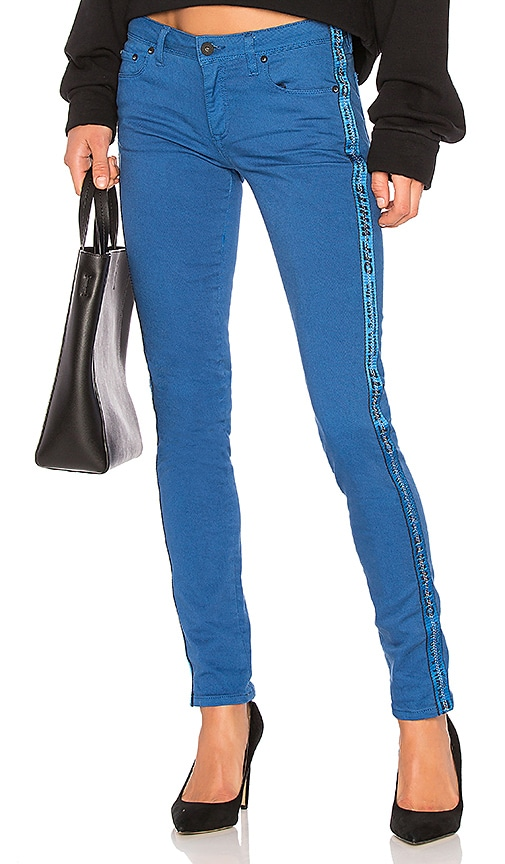 OFF-WHITE Color Strap Skinny Jean in Blue