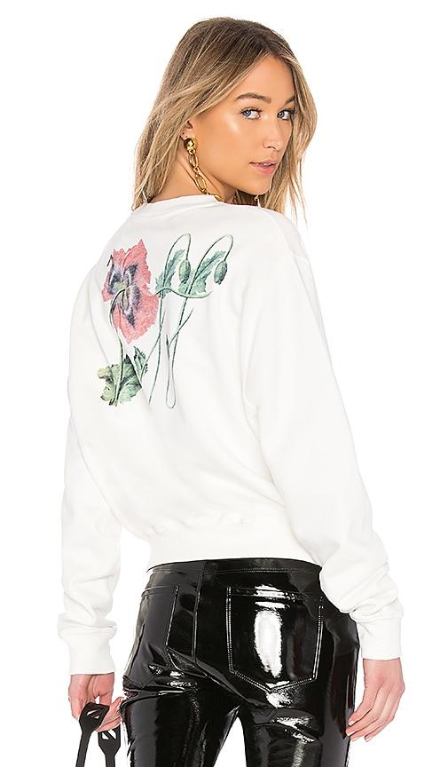 OFF-WHITE Off Poppy Sweatshirt in White