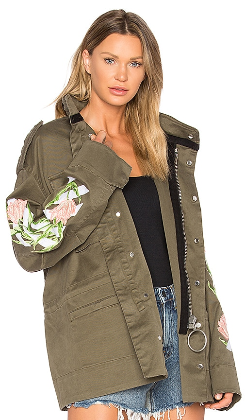 OFF-WHITE Tulips M65 Jacket in Army