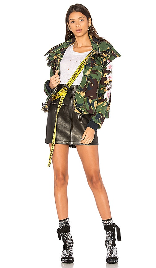 OFF-WHITE Diag Camou Cool Jacket in Green