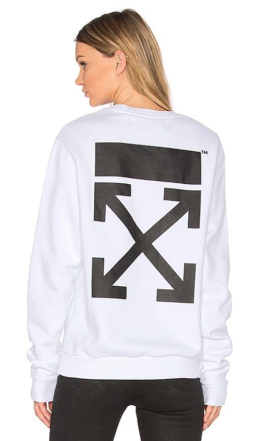 OFF-WHITE Arrow Crewneck Sweatshirt in White
