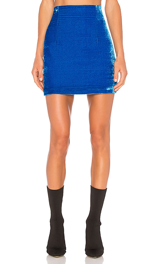 OFF-WHITE Velvet Mini Skirt in Blue