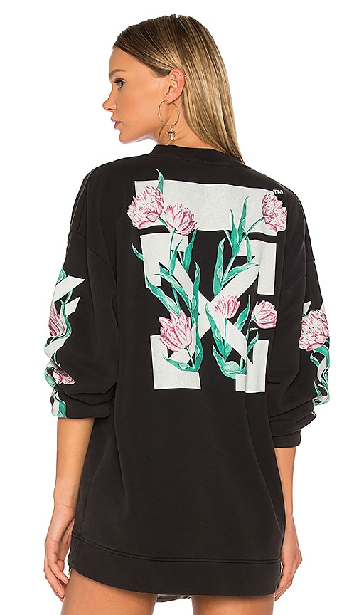 OFF-WHITE Tulips Top in Black