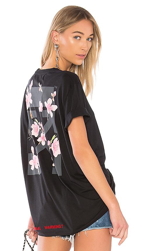 6fd957c09983 OFF-WHITE Cherry Flower Oversize Tee in Black Multicolor   REVOLVE