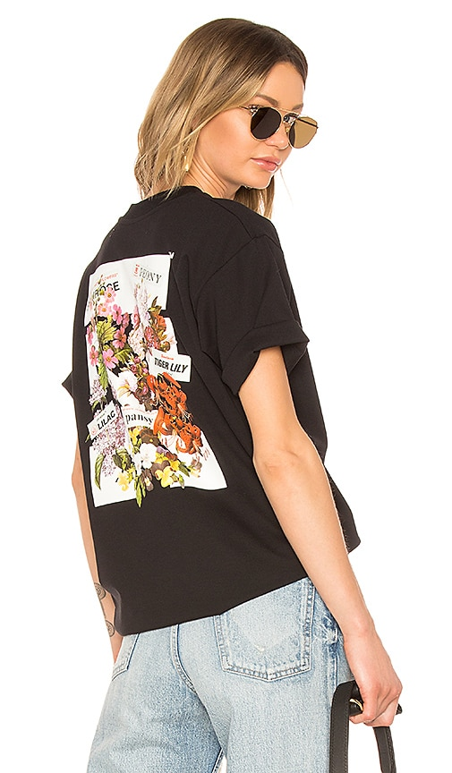 OFF-WHITE Flower Shop Oversize Tee in Black