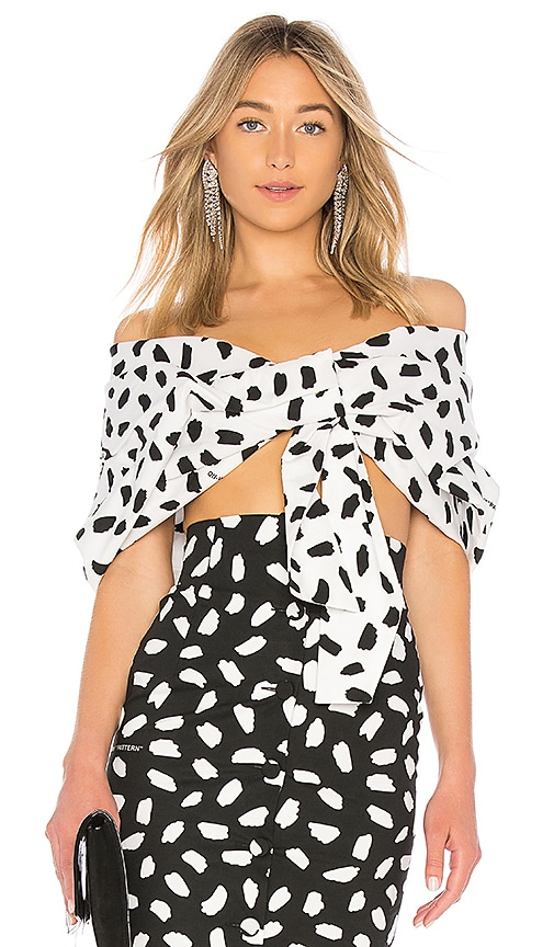 OFF-WHITE All Over Oversized Top in White