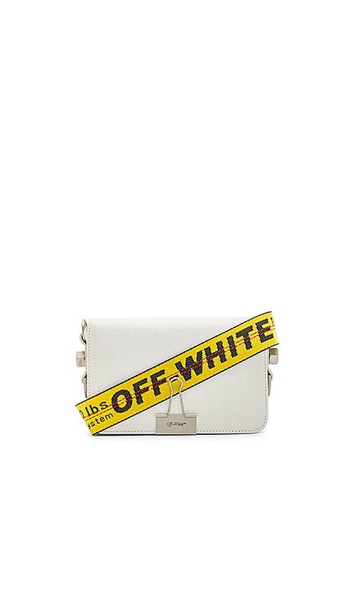 OFF-WHITE Mini Flap Bag in White