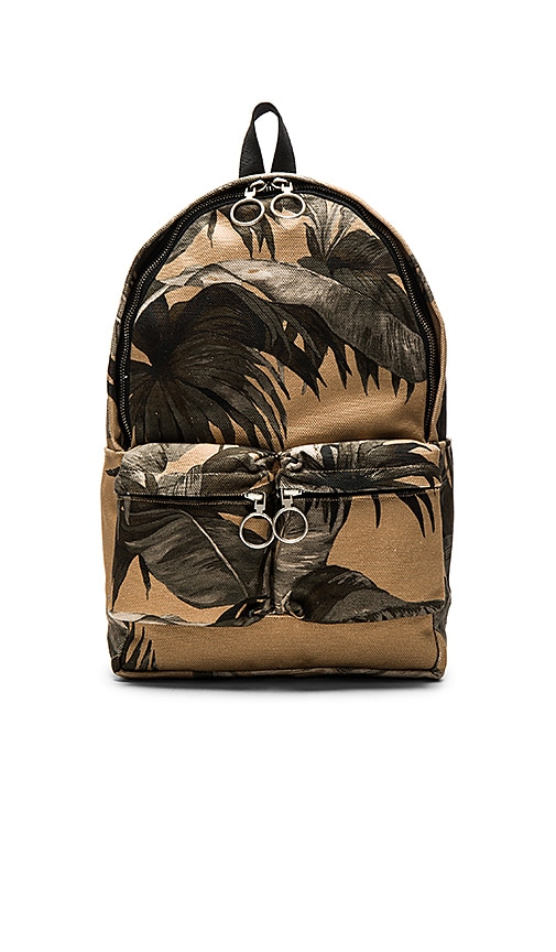 OFF-WHITE Banana Leaf Backpack in Tan