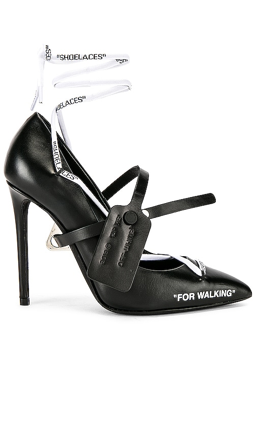 OFF-WHITE Laces Pump Heel in Black