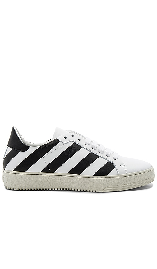 OFF-WHITE Classic Diagonals Sneakers in Black & White