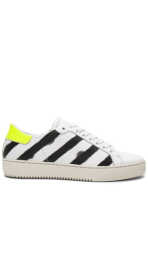 OFF-WHITE Spray Diagonal Sneakers in White