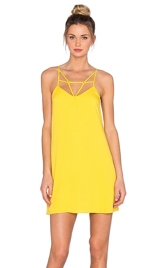 OH, BOY! Vestido Vies Tank Dress in Yellow