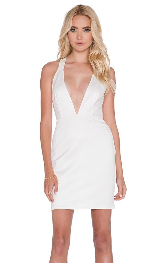 OH MY LOVE Ring Me Back Bodycon Dress in White