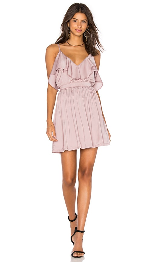 OH MY LOVE Grecian Frill Dress in Mauve