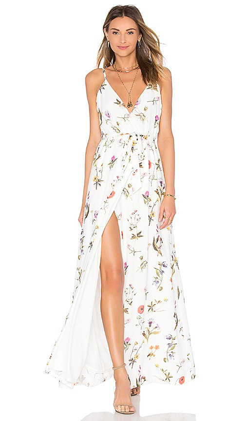 Oh My Love Wrap Maxi Dress In Summer Botanical Revolve
