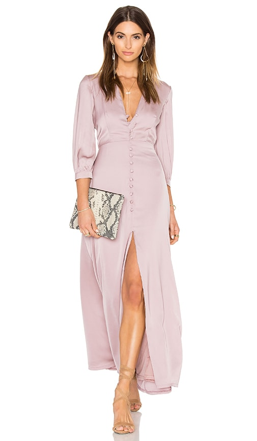 OH MY LOVE 3/4 Sleeve Maxi Tea Dress in Pink