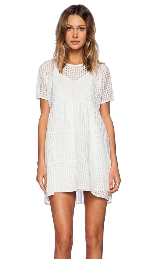 OH MY LOVE Babydoll Mini Dress in White  789385fa8