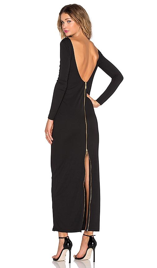 ST by OLCAY GULSEN Dempt Maxi Dress in Black