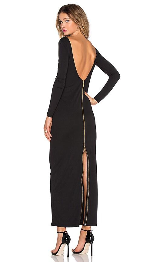 OLCAY GULSEN Dempt Maxi Dress in Black