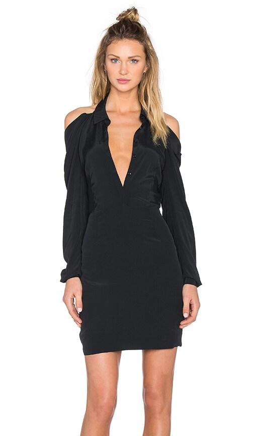 ST by OLCAY GULSEN Shirt Dress in Black