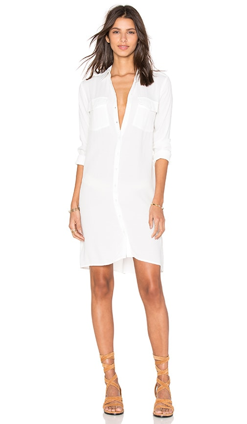 OLCAY GULSEN Shirt Dress in Off White