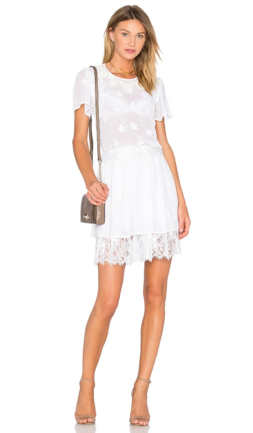 ST by OLCAY GULSEN Embroidered Dress in White