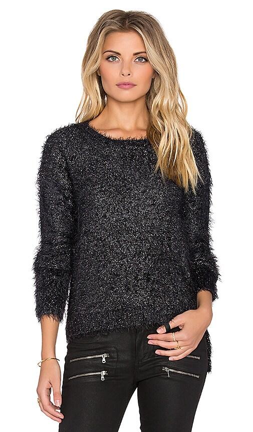 OLCAY GULSEN Kenitra Sweater in Black & Gunmetal
