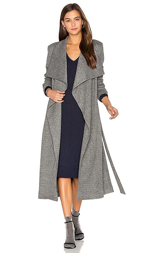 ST by OLCAY GULSEN Jersey Duster Coat in Gray