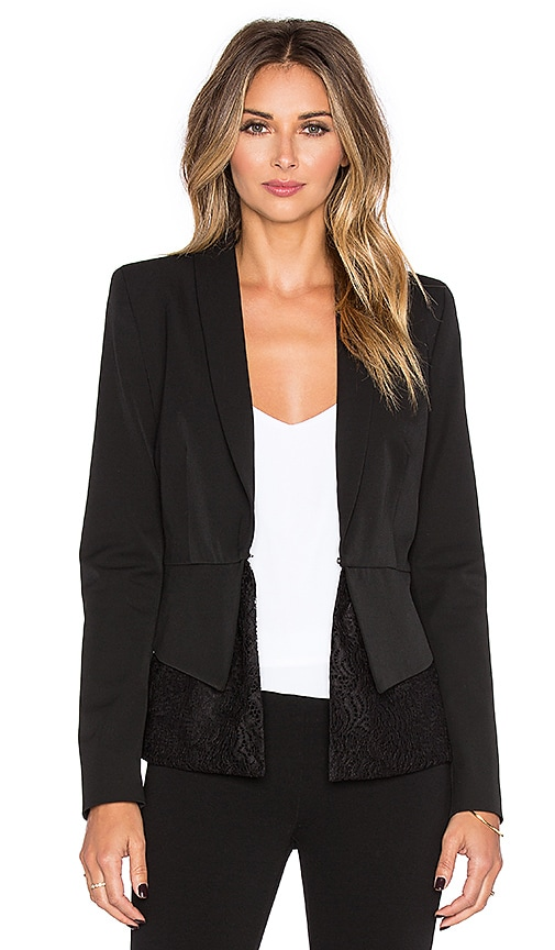 OLCAY GULSEN Peplum Tailored Blazer in Black